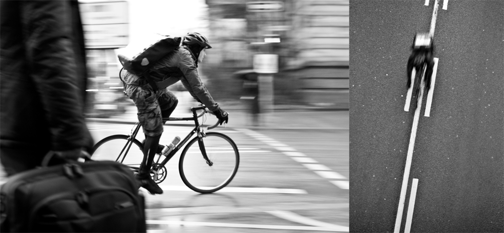 bike messenger bw